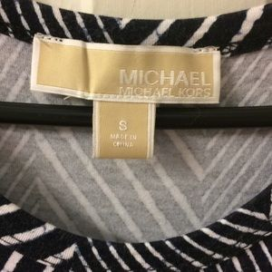 Michael Kors navy and white maxi dress